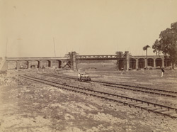 Bridge over Canal from Tolly's Nullah to Dock, Calcutta Docks
